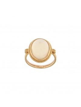 Anello in oro rosa e opale