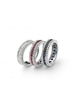 """Anelli collezione """"623"""" in oro diamanti, zaffiri, rubini"""
